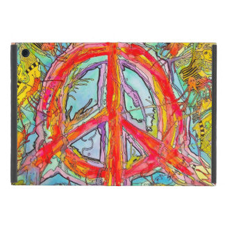 Psychedelic Peace Sign Case For iPad Mini