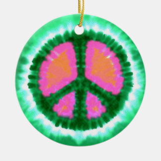 Psychedelic Peace Sign Christmas Christmas Ornament