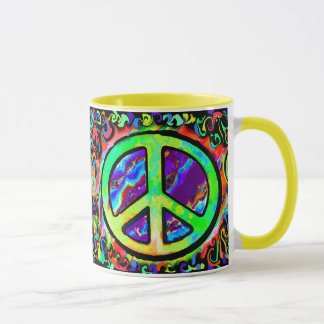 Psychedelic Peace Sign Mug