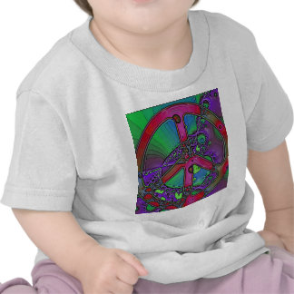 psychedelic peace sign t shirt