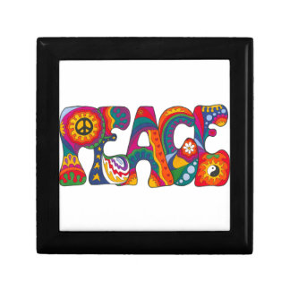 Psychedelic Peace Small Square Gift Box