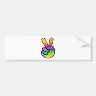 Psychedelic Peace Symbol Bumper Sticker