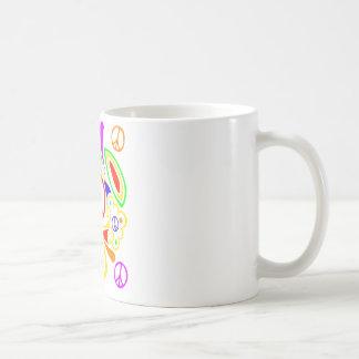 Psychedelic peace symbol. coffee mug