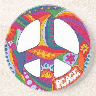 Psychedelic Peace Symbol Drink Coasters