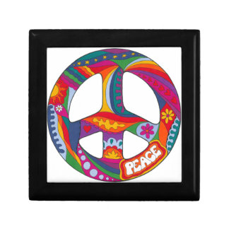 Psychedelic Peace Symbol Small Square Gift Box