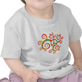 Psychedelic peace symbol t-shirts