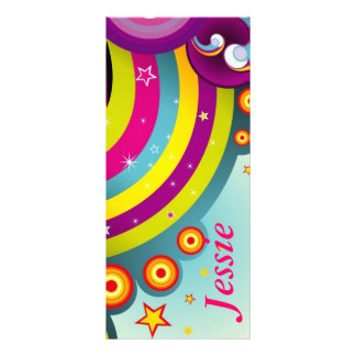 Psychedelic Personalized  Bookmarks Rack Card