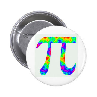 Psychedelic Pi Sign 6 Cm Round Badge
