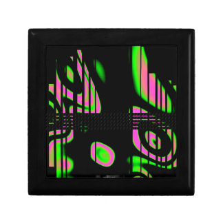 Psychedelic Pink Abstract Small Square Gift Box