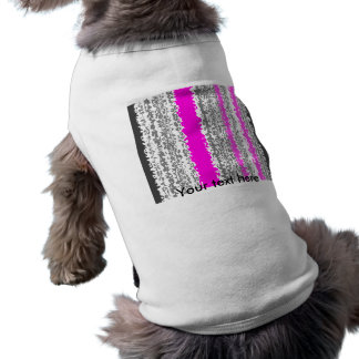 Psychedelic pink and gray stripes dog clothes