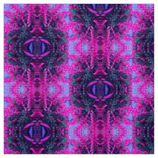 Psychedelic Pink and Purple Succulent Kaleidoscope Fabric