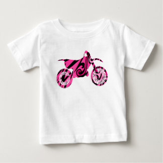 Psychedelic Pink Dirt Bike Baby T-Shirt