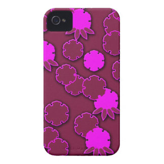 Psychedelic pink floral japanese design iPhone 4 case