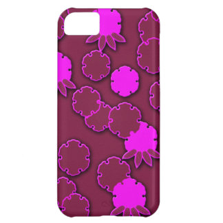 Psychedelic pink floral japanese design iPhone 5C case