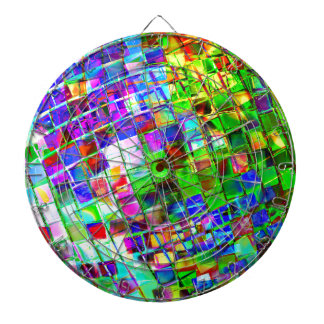 Psychedelic Planet Disco Ball Dart Boards