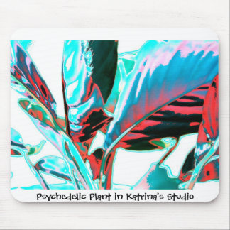 Psychedelic Plant Mouse Pad