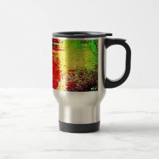 Psychedelic Pond Stainless Steel Travel Mug