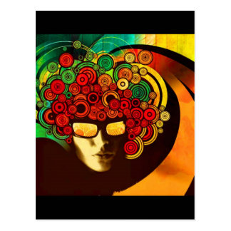 psychedelic pop art postcard