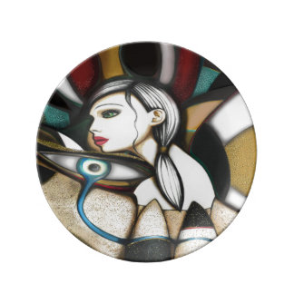 Psychedelic Porcelain Plate