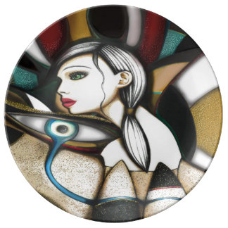 Psychedelic Porcelain Plates