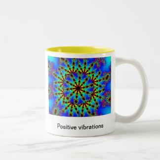 psychedelic positive vibrations mug