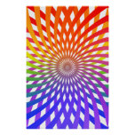 Psychedelic Poster: Rainbow Spiral