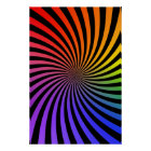 Psychedelic Poster: Rainbow Spiral Poster