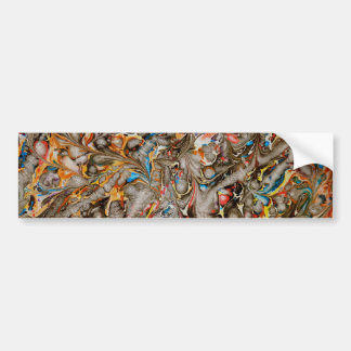 psychedelic print bumper sticker