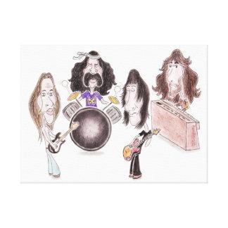 Psychedelic Progressive Rock Caricature Canvas