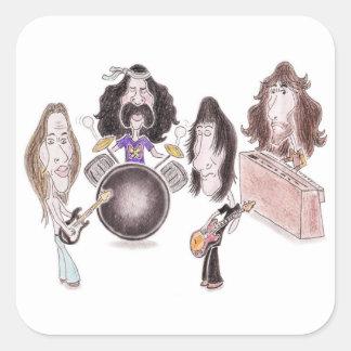 Psychedelic Progressive Rock Caricature Sticker