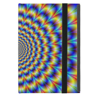 Psychedelic Pulse in Blue and Yellow Cover For iPad Mini