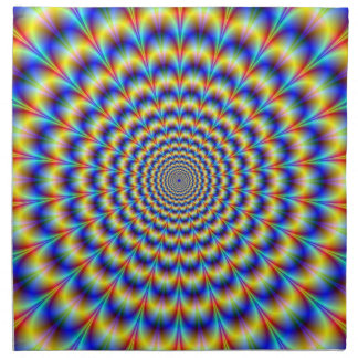 Psychedelic Pulse in Blue and Yellow  Napkins