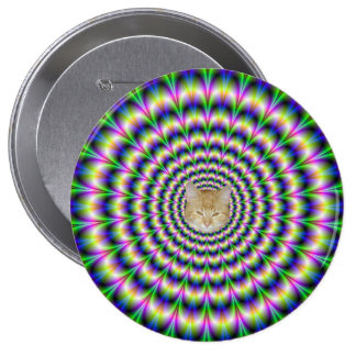 Psychedelic Pulse in Purple and Green  Button