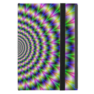 Psychedelic Pulse in Purple and Green Cover For iPad Mini