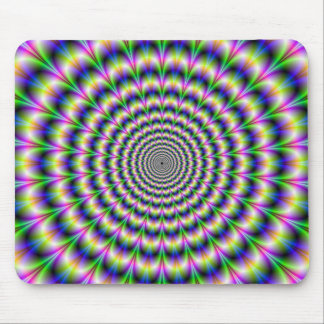 Psychedelic Pulse in Purple and Green Mousepad
