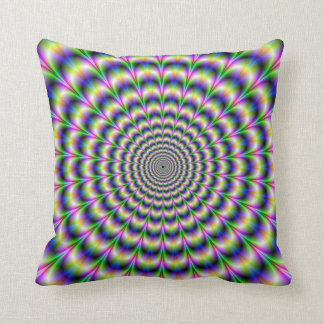 Psychedelic Pulse in Purple and Green  Pillows
