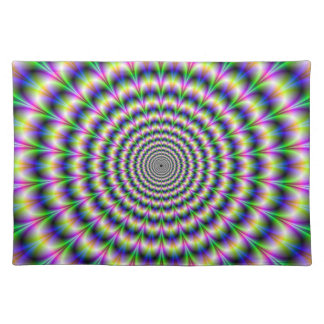 Psychedelic Pulse in Purple and Green Placemats