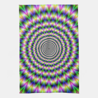 Psychedelic Pulse in Purple and Green Towel