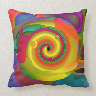 Psychedelic Punch Throw Pillow
