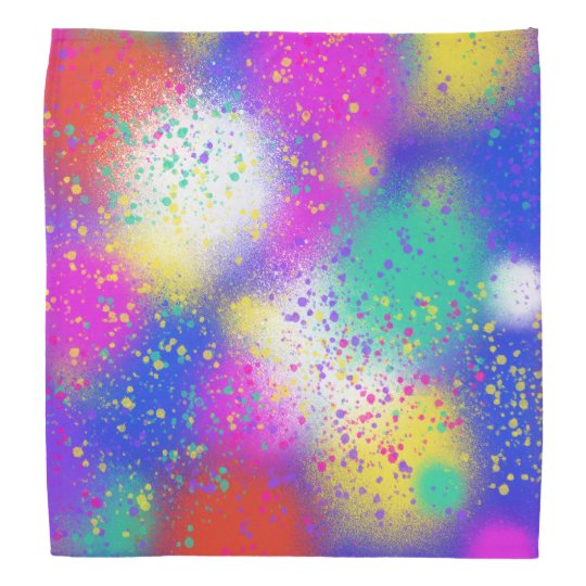 Psychedelic Purple Blue Pink Abstract Art Design Bandana