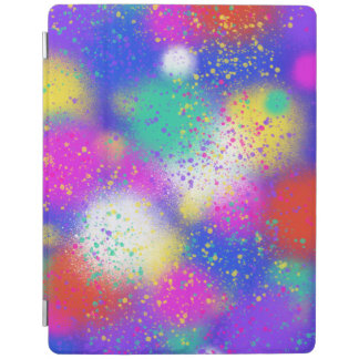 Psychedelic Purple Blue Pink Abstract Art Design iPad Cover