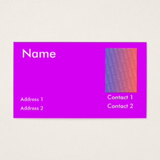 Psychedelic purple business card