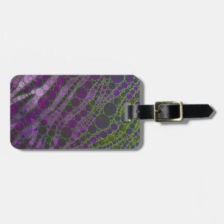 Psychedelic Purple Green Zebra Luggage Tag