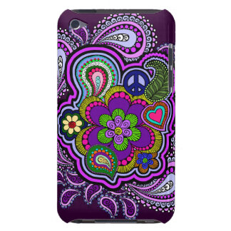Psychedelic Purple Paisley iPod Case iPod Touch Cases