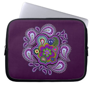 Psychedelic Purple Paisley Laptop Sleeve