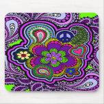 Psychedelic Purple Paisley Mousepad
