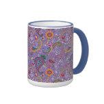 Psychedelic Purple Paisley Ringer Mug