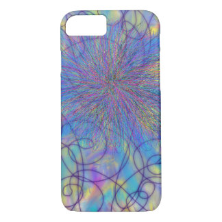 Psychedelic Purple Pink Star Abstract Art Design iPhone 8/7 Case