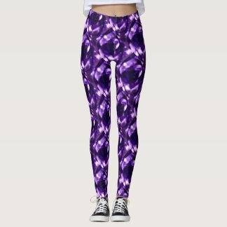 Psychedelic Purple Rose Leggings