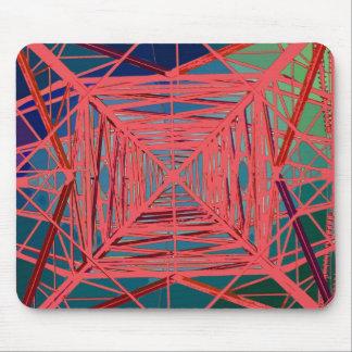 psychedelic pylon mouse mat